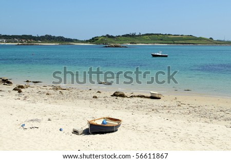 Green bay beach, Bryher Isles of Scilly. - stock photo