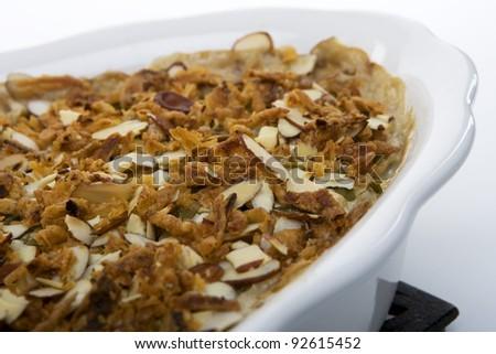 Green Bean Cassarole in a Large Dish - stock photo