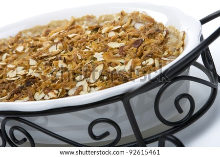 Green Bean Casserole in a Large Dish - stock photo