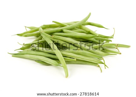 Green Bean with white background