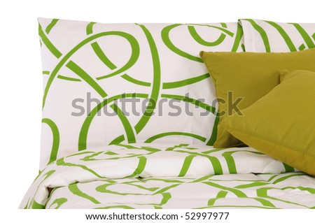 Green bedding. Isolated - stock photo