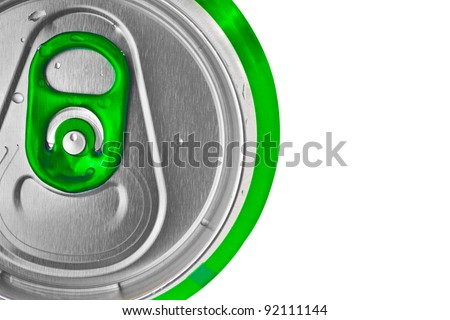 Green beer can isolated on a white background - stock photo