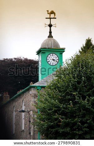 green bell in Camelford in Cornwall - stock photo