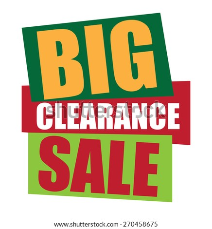 green big clearance sale sticker,  icon,  label, banner, sign isolated on white  - stock photo