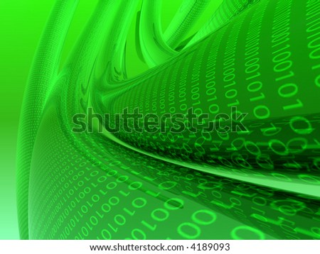 green binary abstract background