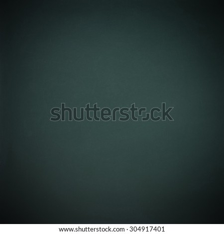 Green-black blank chalkboard for background, square - stock photo
