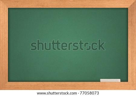 green blackboard - stock photo