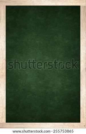 green blackboard in wooden frame - stock photo