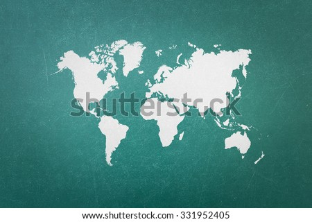 World map blank stock images royalty free images vectors green blackboard with world map outline elements of world map image from nasa public domain gumiabroncs Image collections