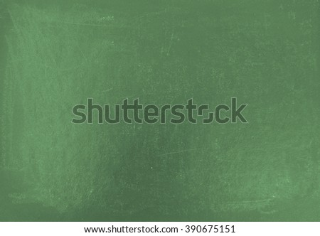 Green blank chalkboard background with copy space - stock photo
