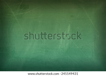 Green blank chalkboard or blackboard for background - stock photo