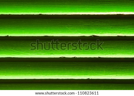 green blinds - stock photo