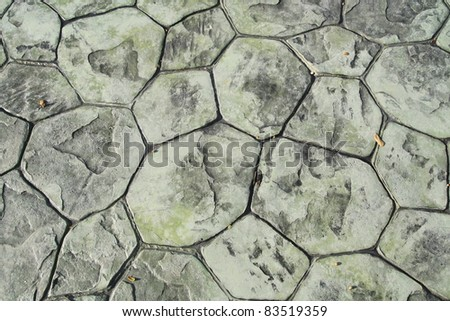 green block stone floor - stock photo