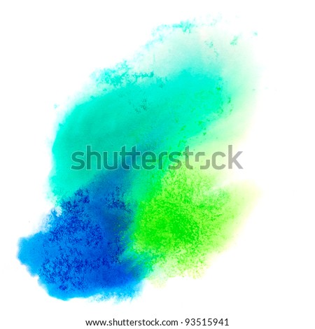 green blue macro spot blotch texture isolated on a white background - stock photo