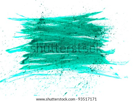green blue macro spot blotch texture isolated on a white background
