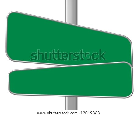 green blue road sign - your text here