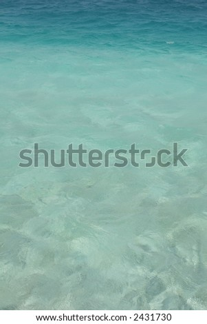 Green/blue sea - stock photo