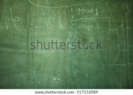 green board - stock photo