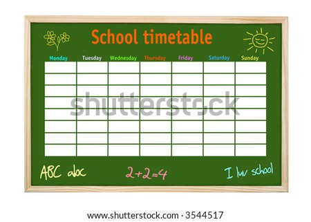 School Timetable Stock Images, Royalty-Free Images & Vectors