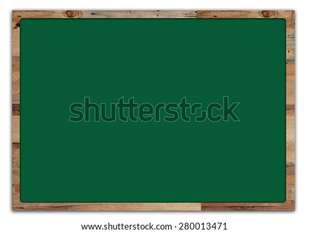 Green board isolated on white background - stock photo