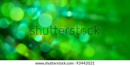 Green Bokeh - stock photo
