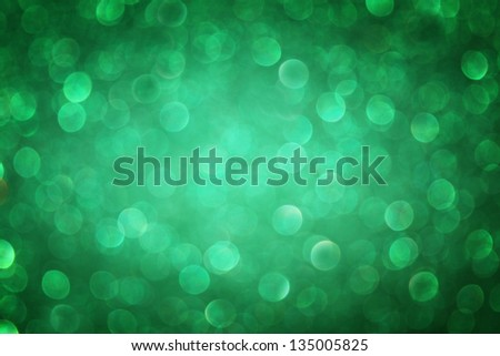 green bokeh abstract light background. defocused lights background - stock photo