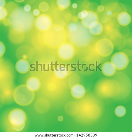 Green bokeh abstract light background. For vector version, see my portfolio. - stock photo