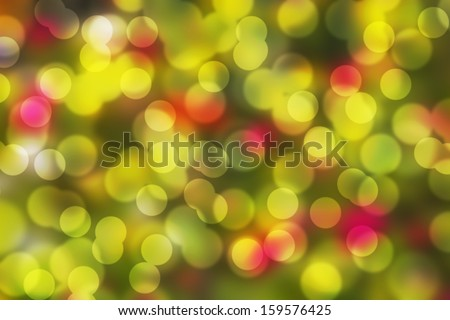 green bokeh effect