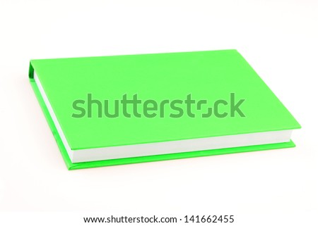 Green book on isolated - stock photo