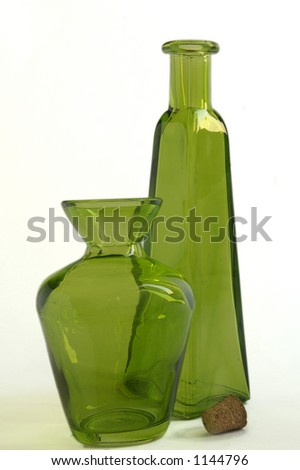 Green Bottle and Jar