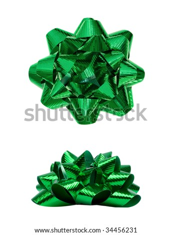 Green Bow - stock photo