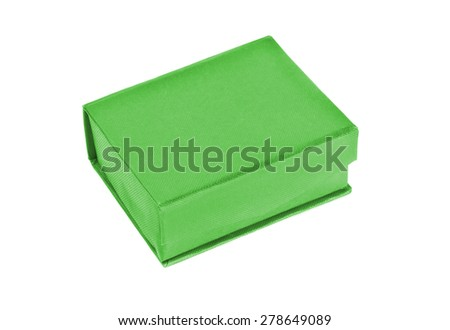 green box for a tie isolated on white background