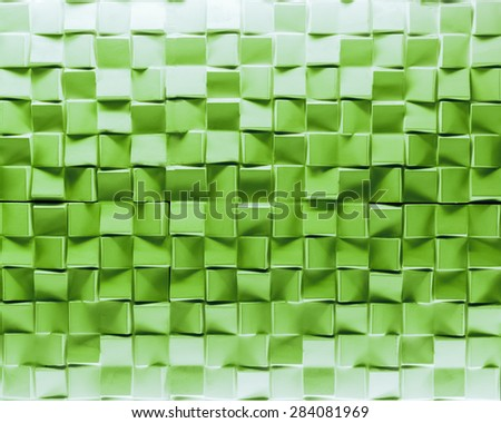 green brick wall texture background - stock photo