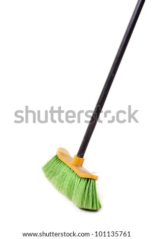 green broom, for domestic use - stock photo