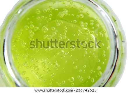 Green Bubbles Background - stock photo