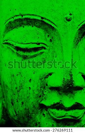 Green Buddha - stock photo