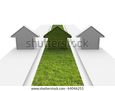 Green building - stock photo