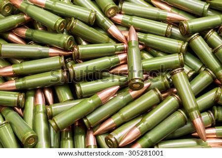 Green bullets - stock photo
