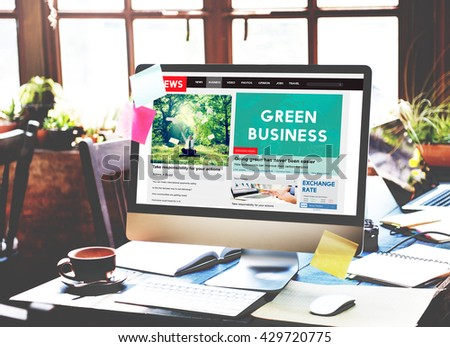 Green Business Earth Ecology Environment Concept - stock photo
