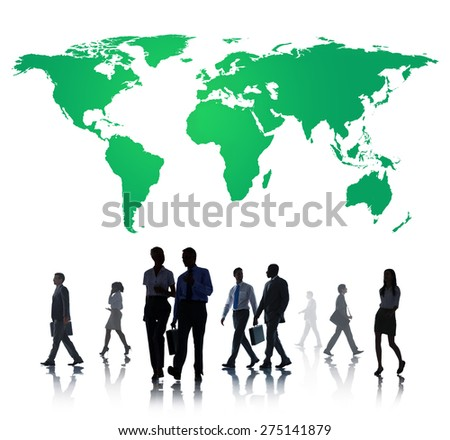 Green Business Environment Global Conservation Concept - stock photo