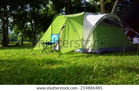 Green camping - stock photo