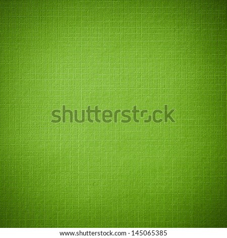 Green canvas background or texture - stock photo