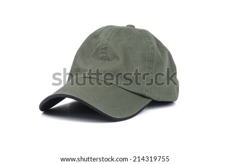green cap isolated on white - stock photo