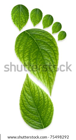 Green Carbon Foot Print Concept - stock photo