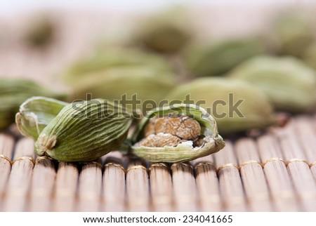 Green Cardamom - stock photo