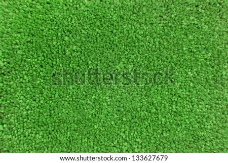 green carpet texture macro - stock photo