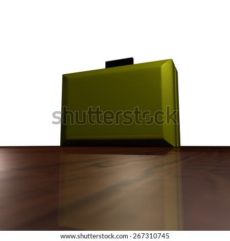 Green Case Bag - stock photo