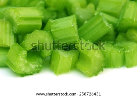 Green celery over white background - stock photo