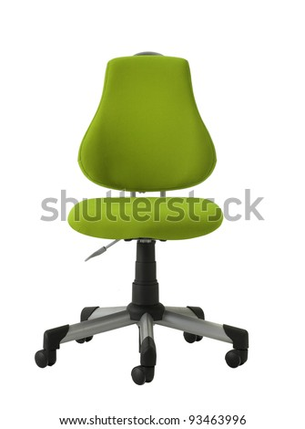 green chair - stock photo