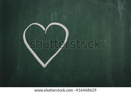 Green Chalkboard   - stock photo